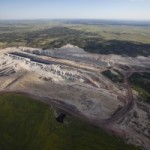 Montana's Constitution requires that all disturbed lands be reclaimed. Aerial view of Rosebud Coal mine.(c) Kestrel Aerial Services, Inc. (c)www.kestrelaerial.com