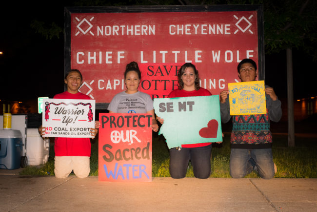 Members of Northern Cheyenne Nation. Photo by Alexis Bonogofsky, www.eastofbillings.com